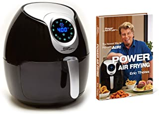 Air fryer XL 5.3 Deluxe with Cookbook Power AirFryer XL, 5.3QT, Black