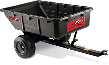 product image for Brinly PCT-10BH 10 Cubic Feet Tow Behind Poly Utility Cart, 650-Pound