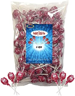 Red Raspberry Tootsie Roll Pops 3 Lbs