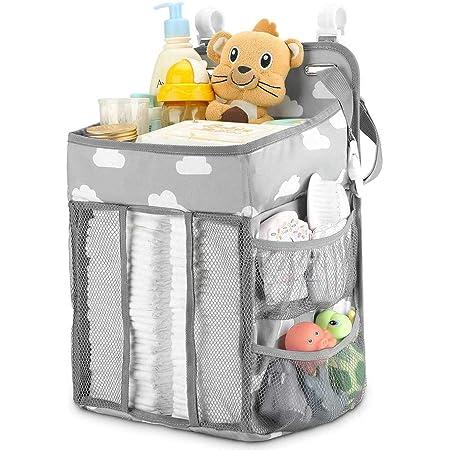 SRUQ ベビーベッド収納袋 多機能吊り袋 おむつストッカー 収納ケース 大容量 折りたたみ 収納 ボックス 小物収納ケース 収納バッグ おもちゃ 小物入れ 出産祝い
