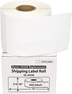 """HOUSELABELS Compatible DYMO 30256 Shipping Labels (2-5/16"""" x 4"""") Compatible with Rollo, DYMO LW Printers, 50 Rolls / 300 L..."""