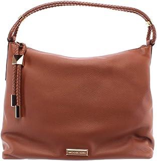 MICHAEL by Michael Kors Lexington borsa in pelle marrone, borsa a tracolla MK, borsa da donna Taglia unica Luggage