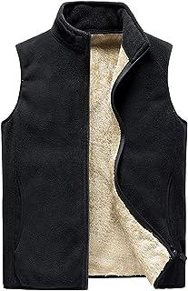 TieNew Vest for Men, Warm Soft Comfort Lightweight Full Zip Sleeveless Jacket Body Warmer Outdoor Jacket Gilet 8X