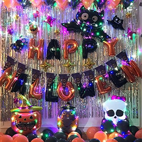 TiiCo ハロウィン 飾り 風船 バルーン 装飾 大容量 電飾付き 空気入れ付き ハロウィンパーティー 写真撮影背景
