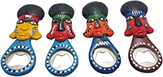 Colorful Maasai Masai African Mask Wooden Beer Soda Soft Drinks Bottle Opener