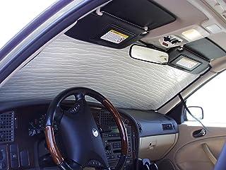 HeatShield, The Original Windshield Sun Shade, Custom-Fit for Saab 9-3 Sedan 2003-2011, Silver Series