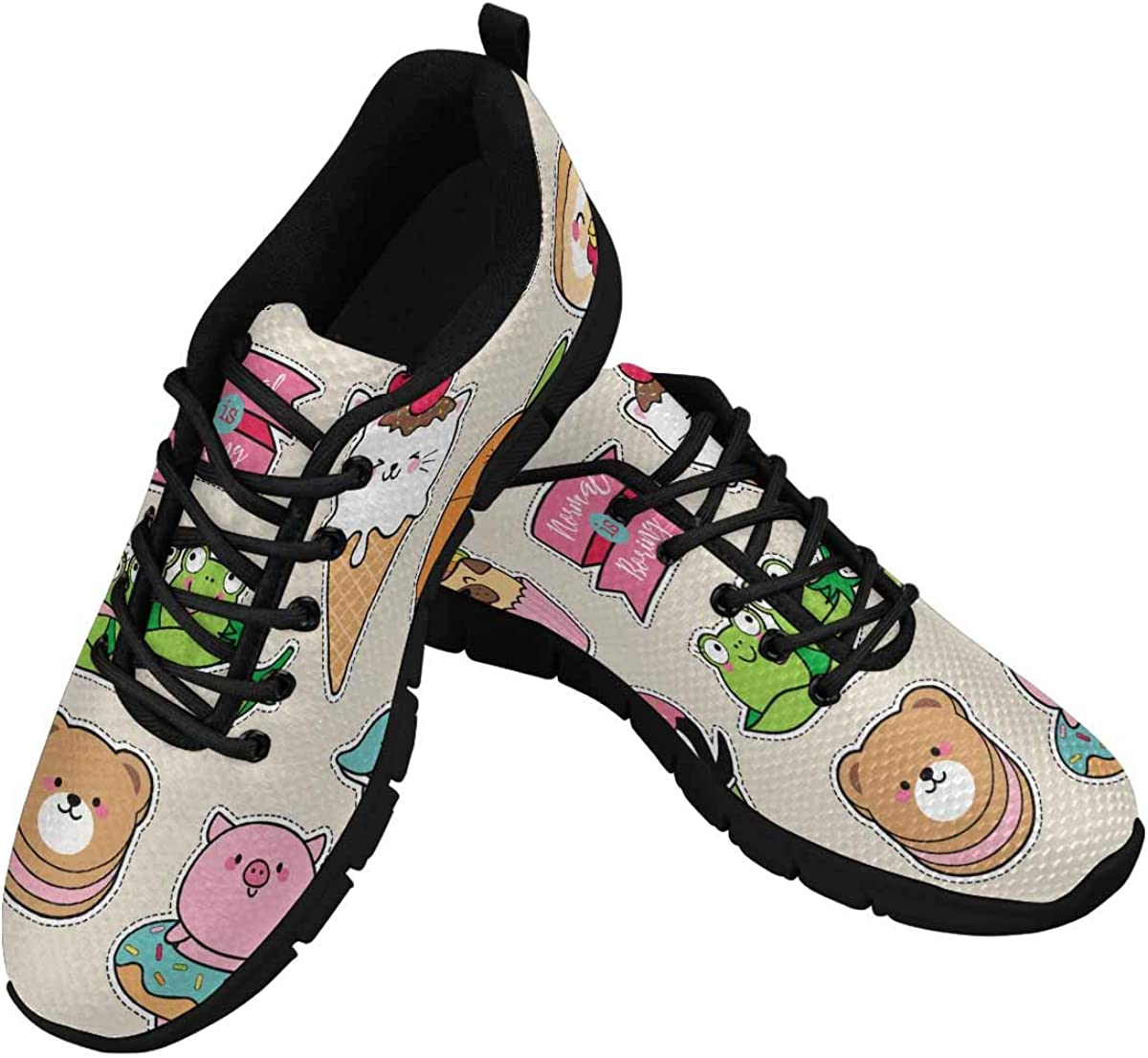 INTERESTPRINT Fashion Colorful Badges Women's Breathable Sneaker
