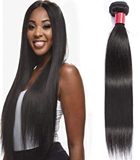 Lizourey Hair Brazilian Virgin Hair Straight Hair One Bundle 14inch 100% Unprocessed Virgin Human Hair Extension Weave Weft Natural Color (100+/-5g)/bundle Can be Dyed and Bleached