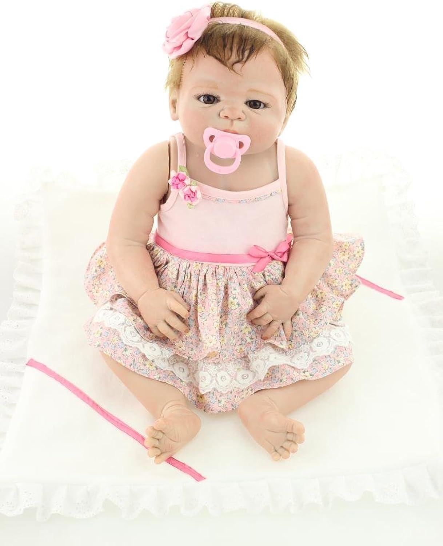 Handgemachte Kindergeburtstagsgeschenk 18inch 45cm voller Krper weiche Silikon Reborn Baby puppe lebensechte Augen ffnen neugeborenes Mdchen Spielzeug doll