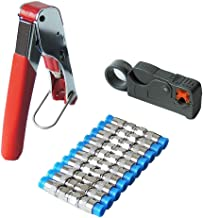 Cable Crimper Stripper Tool Portable Coax Cable Crimping Stripping Cutting Pliers Non-Slip Crimper Stripper Cutter Tool