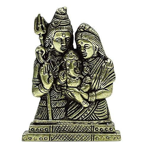 Lord Shiva Göttin Parvati, die Baby Ganesha Heiligen Bronze Sculpture Home Decor