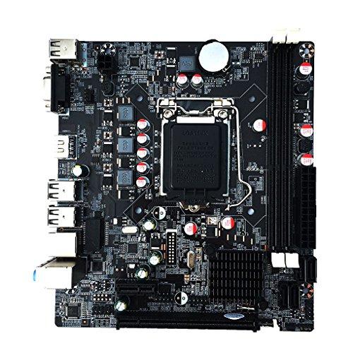 Floridivy H61 Desktop Computer Moederbord 1155-pin CPU Interface moederbord, B75 moederbord, computer chip H61M Upgradeable USB 3.0 B75 Moederbord