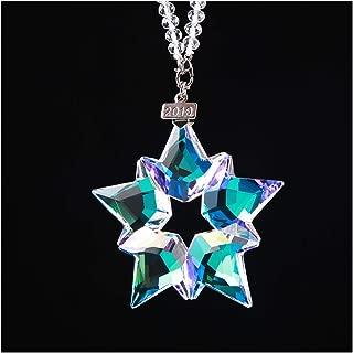 XIANGBAN 2019 Crystal Snowflake, Annual Christmas Star Ornament K9 Prism Decoration (AB)