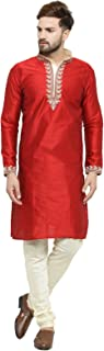 Men's Silk embroideded Kurta Pyjama Set Special for Festive, Wedding, Party Special for Diwali