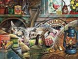 Jiedoud 1000 Pezzi Puzzle di Legno I Gatti di Charles Wysocki - Puzzle