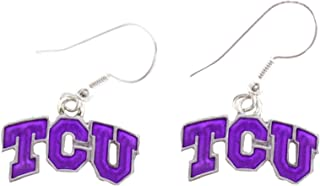 TCU Horned Frogs Iridescent Purple Charm French Hook Earring Jewelry