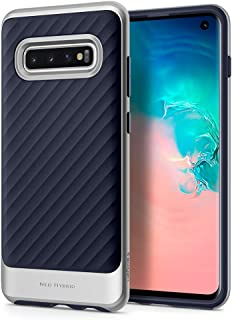 Spigen Samsung Galaxy S10 Neo Hybrid cover/case - Arctic Silver with Midnight Blue TPU back