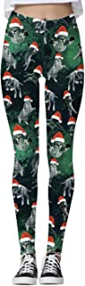ALBIZIA Women's Ugly Christmas Xmas Leggings Funny Costume Tights