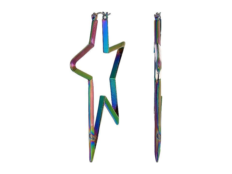 Betsey Johnson - Betsey Johnson Abstract Star Hoop Earrings