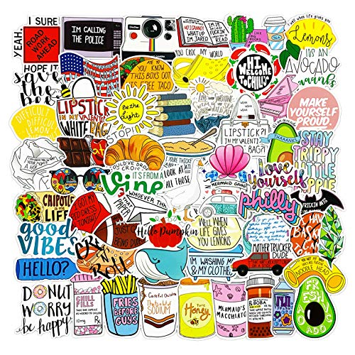 115pcs Water Bottle Funny Vine Stickers, Fresh Vine Stickers for Hydro Flask Laptops Computer Phones Meme Sticker Waterproof Aesthetic Vinyl Decals for Teens Adult