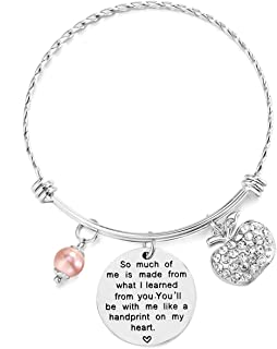 ELOI Teacher Appreciation Gift It Takes a Big Heart to Teach Little Minds Bracelet Bangle Thank You Gifts