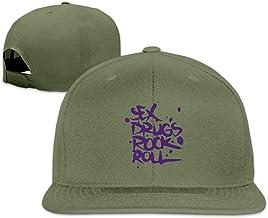 BQJ Apparel Men Women Adjustable Sex Drugs Rock & Roll Trucker Cap Youth Mesh Hat Forestgreen