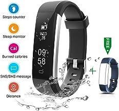CHEREEKI Fitness Armband, Fitness Tracker Wasserdicht IP67 Aktivitätstracker..