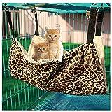 Bello Luna Estera Colgante Estampada Leopardo de la Cama de la Hamaca del Gato para el Gato del Perro y el pequeño Animal