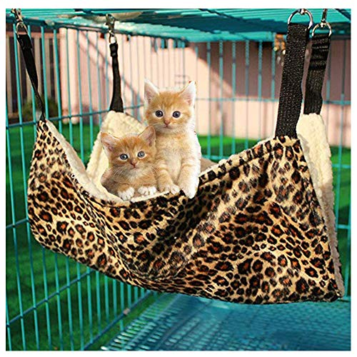 Bello Luna Amaca per Gatti Appendiabiti Stampato con Leopardo per Gatto e Piccolo Animale