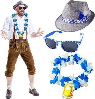Erwachsene Oktoberfest Hut /& Sonnenbrille Satz Deutsche Bier Festival Kostüm