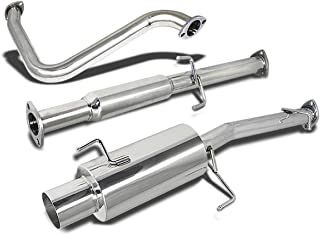 For Honda Prelude Catback Exhaust System 4 inches Tip Muffler - BB H22 H23