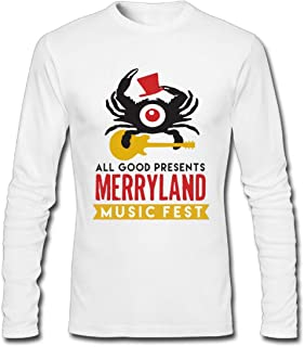 Hefeihe DIY Merryland Music Festival 2016 Men's Long-Sleeve Fashion Casual Cotton T-Shirt