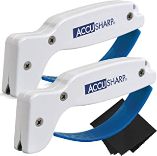 AccuSharp Knife and Tool Sharpener 001 (2-Pack with Z-Cloth) Bundle