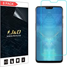 J&D Compatible for 8-Pack OnePlus 6 Screen Protector, [Not Full Coverage] Premium HD Clear Film Shield Screen Protector for OnePlus 6 Crystal Clear Screen Protector