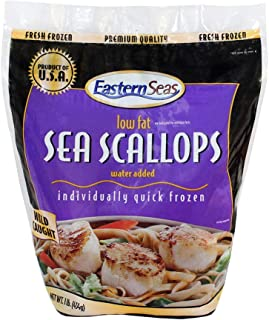 Scallops IQF 10/20 frozen, Frozen, 454g