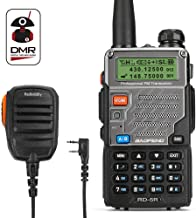Radioddity x Baofeng RD-5R Dual Band Dual Time Slot DMR, VHF/UHF1024 Channels FM Radio Rechargeable Long Range Walkie Talkies Compact Ham Amateur Radio, Programming Cable & Remote Speaker