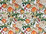 Stoffeldorado - Meterware Outdoor Stoff, Orangen grün