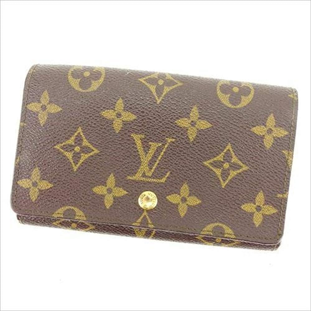 熟考するに慣れポーチルイヴィトン Louis Vuitton L字ファスナー財布 二つ折り メンズ可 ポルトモネビエトレゾール M61730 モノグラム 中古 人気 T12065