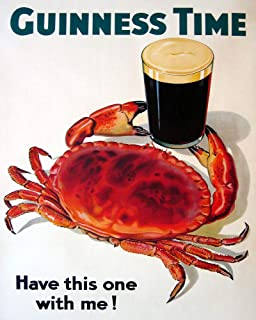Guinness Time Irish Ireland Beer Crab Seafood Have This One with Me 16