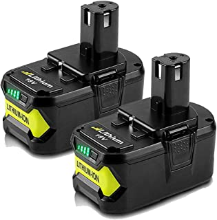 2 Pack 18V 5.0Ah Max Lithium-ion Replacement Battery for 18 Volts Ryobi P104 P105 P100 P102 P103 P107 P109 P108 Cordless Power Tools Battery