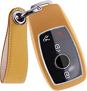 SANRILY Smart Key Case for Mercedes Benz E C Class W213 E300 E450 AMG Keyless Remote Key Fob Cover with Keychain