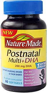 Nature Made Postnatal Multi+DHA -- 200 mg - 60 Softgels