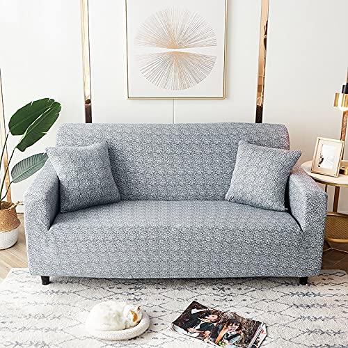 WXQY Fundas de celosía geométrica Funda de sofá elástica Funda de sofá de protección para Mascotas Funda de sofá con Esquina en Forma de L Funda de sofá con Todo Incluido A15 4 plazas