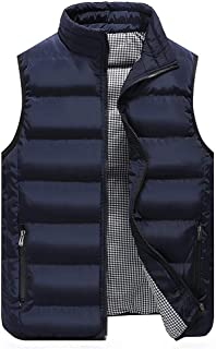 Mens Gilet Vest Zip Pockets Body Warmers Puffer Gilet Quilted Sleeveless Jackets Lightweight Hiking Outwear Casual Outdoor...