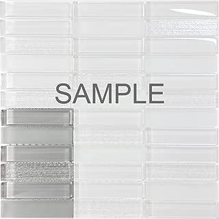 Modket TDH231MO-S Sample - Modern Gray Crystal Glass Blend Texture and Matted Glass Mosaic Tile Backsplash