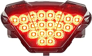 Integrated Sequential LED Tail Lights Smoke Lens for 2018-2019 Yamaha MT-07