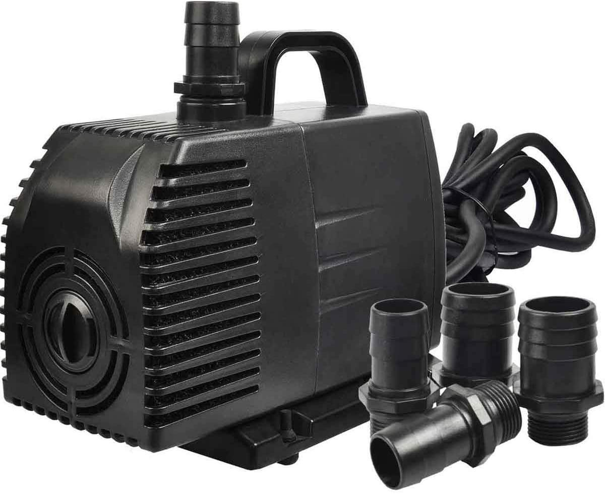 Simple Deluxe 1056 GPH Submersible Pump with 15' Cord, Water Pump for Fish Tank, Hydroponics, Aquaponics, Fountains, Ponds, Statuary, Aquariums & Inline