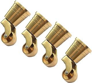 Ruedas giratorias de latón de Alta Resistencia de 25 mm, Superficie Pulida de Cobre Puro