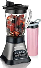 Hamilton Beach (58161) Blender with 40 oz Jar & 20 oz Single Serve Travel Jar, For Shakes & Smoothies, Bullet Blender