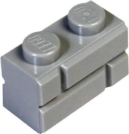 LEGO LOT 100 X BRIQUE MASONRY 1X2 GRIS CLAIR //LIGHT BLUISH GRAY REF 98283 NEUVES